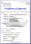 Agusta Westland Certificate of Approval