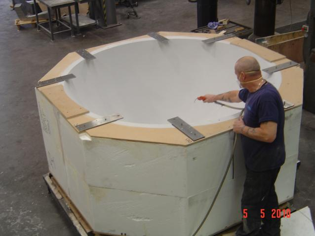 Nose Cone Mould - Manufactured from polystyrene and epoxy paste