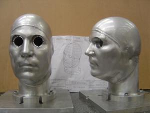 Human Head - Helmet Simulator