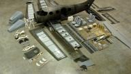Aerial View of aircraft detail parts