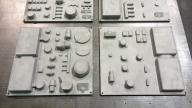 CNC machined Al. Alloy - Nested Parts Tray - For Aero Engines